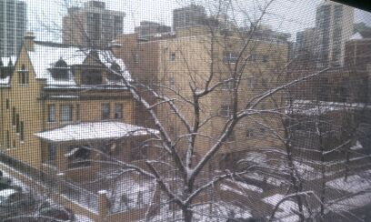 May not be the most scenic view, but good golly I loved seeing real snow out my window this morning!