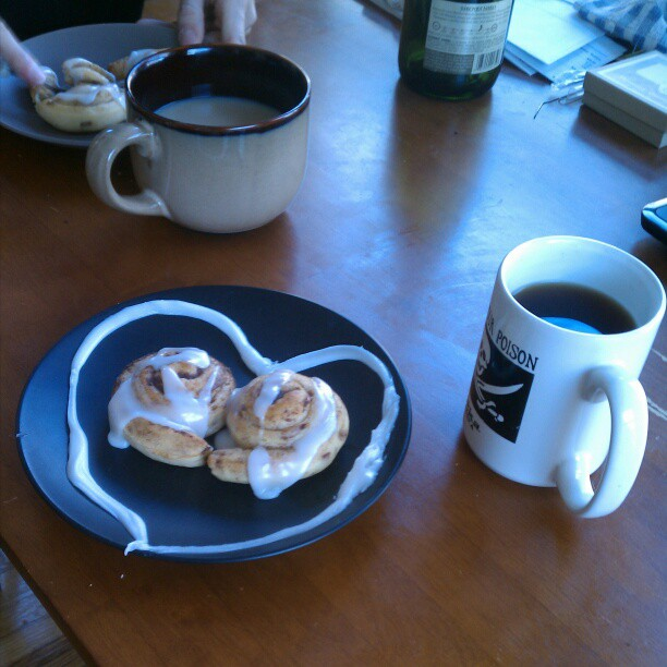 Last year's Valentine's brunch in the sunroom.