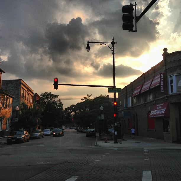 On the street where I live.